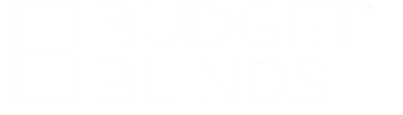 Budget Blinds Logo - White