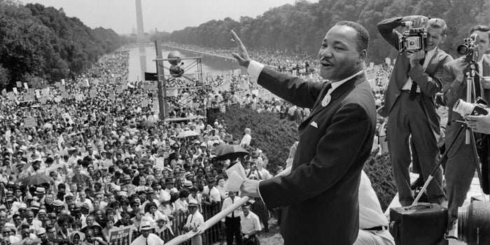 Dr. King speaks during the March on Washington